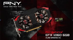 PNY GeForce GTX 1060 6GB XLR8 Gaming OC Edition