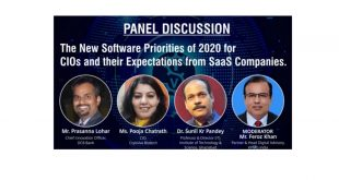 The new software priorities of 2020 for CIOs and their expectations from SaaS Companies. | Panelists - Dr. Sunil Kr Pandey Professor & Director (IT) – ITS | Prasanna Lohar, CIO, DCB Bank | Pooja Chatrath, CIO, Cryoviva Biotech | Moderator - Feroz Khan, Partner & Head Digital Advisory, KPMG India.